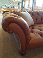 Grammy Harris Tweed and Leather Sofas.