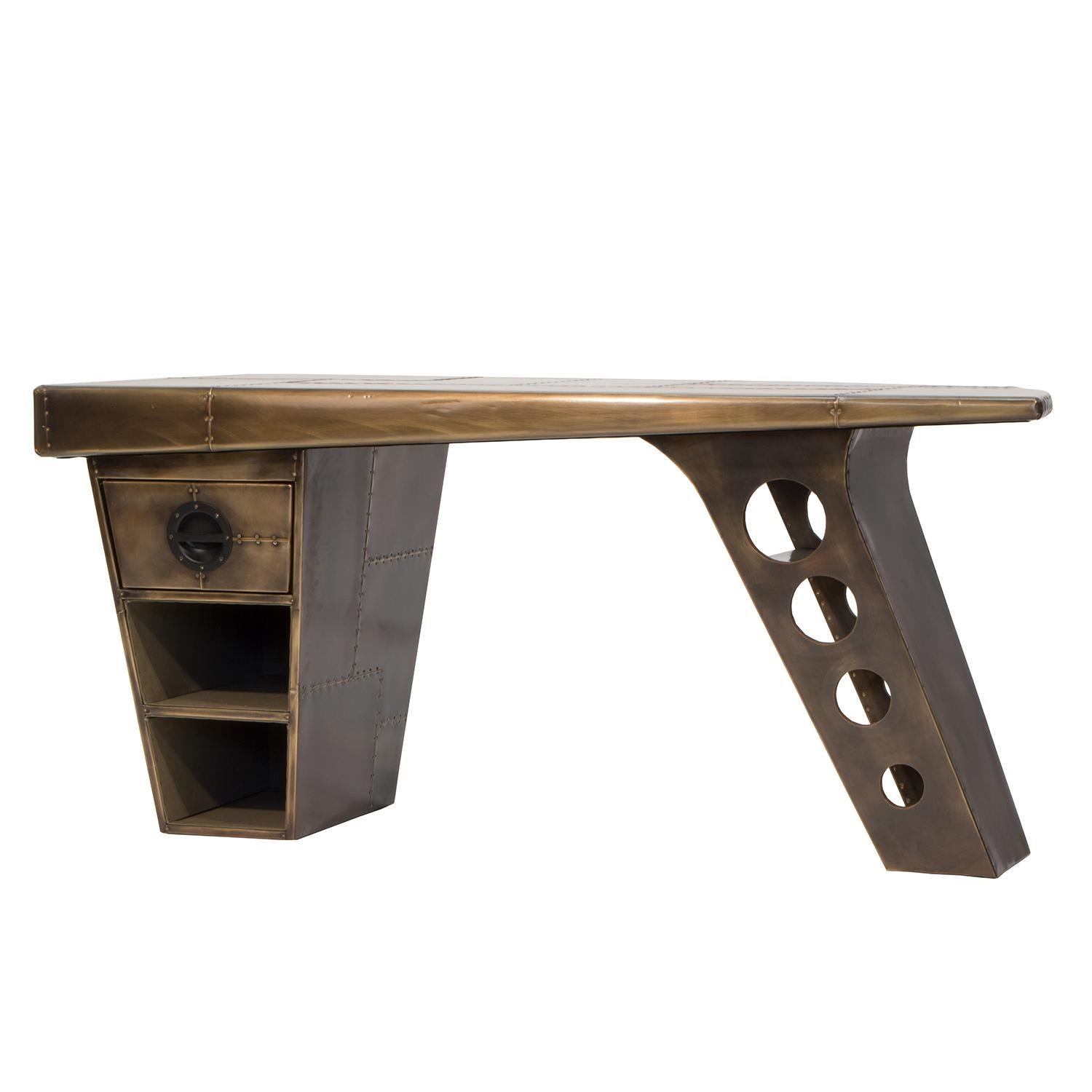 Aviator Wing Shaped Metal Desks.