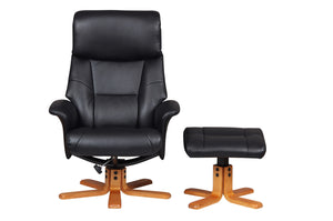 Marseilles black swivel chair