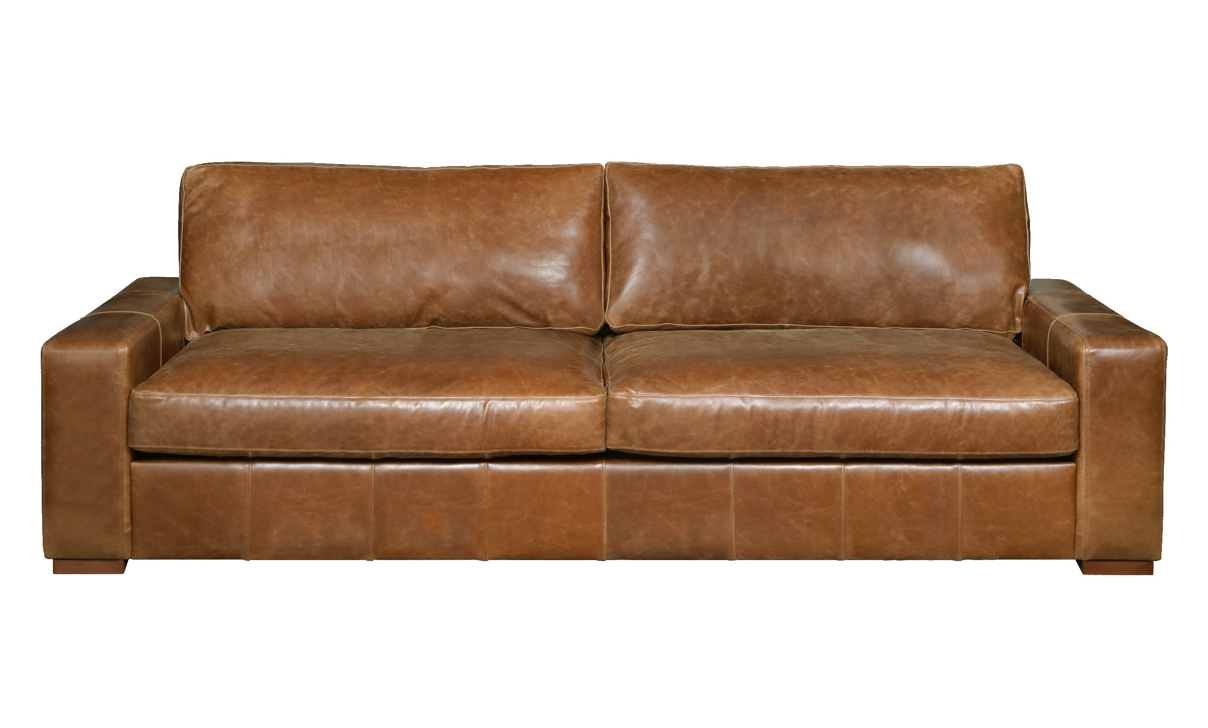 Maximus Full Aniline Leather Sofas-harris tweed leather sofas-Against The Grain Furniture-4 seater-Against The Grain Furniture