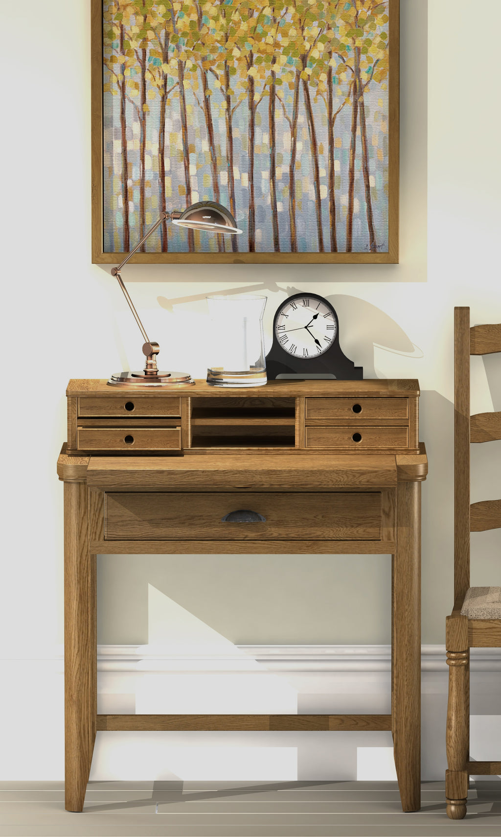 Copeland Compact Oak Desk.