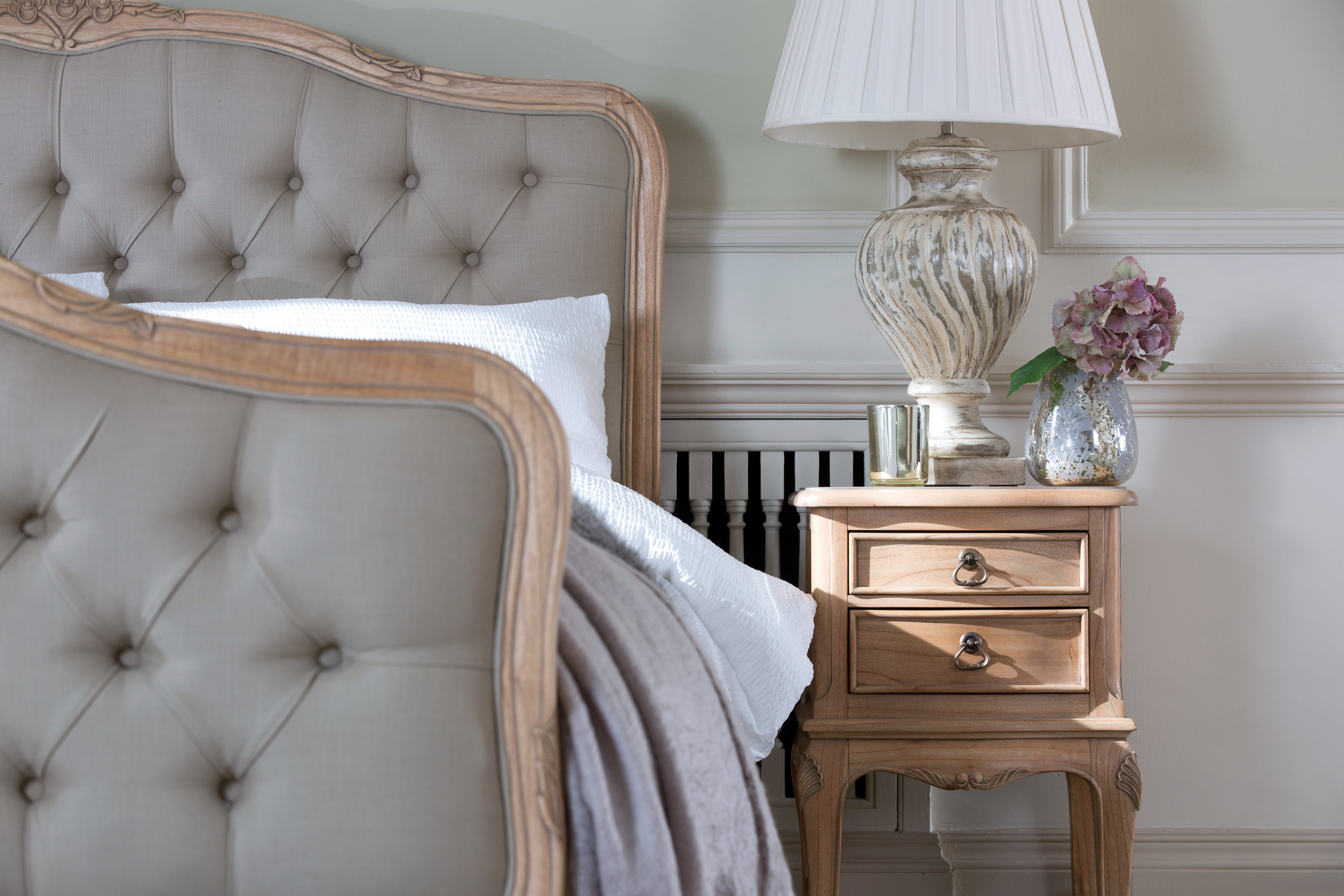 Limousin Bed Frames With Upholstered Head and Foot Boards-Bed frames-Baker Limoges-Against The Grain Furniture