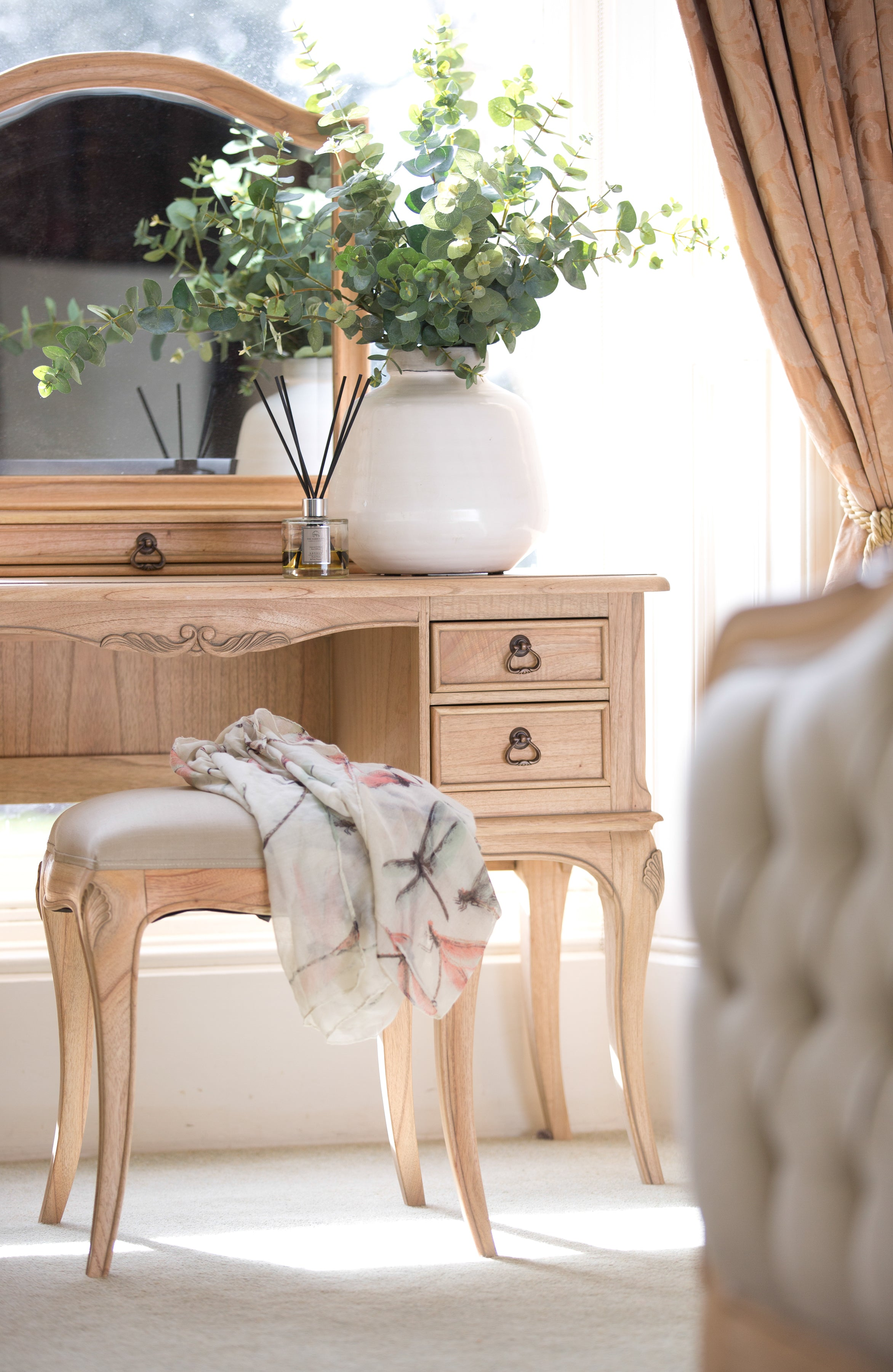 Limousin Dressing Table and Mirrors-Dressing table-Baker Limoges-Against The Grain Furniture