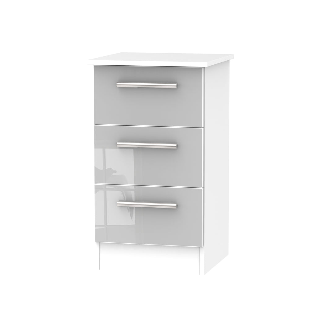 Cheap and Cheerful Bedside Cabinets In Grey and White
