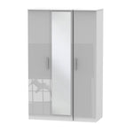 Cheap and Cheerful Tall Wardrobes In Grey Gloss and White