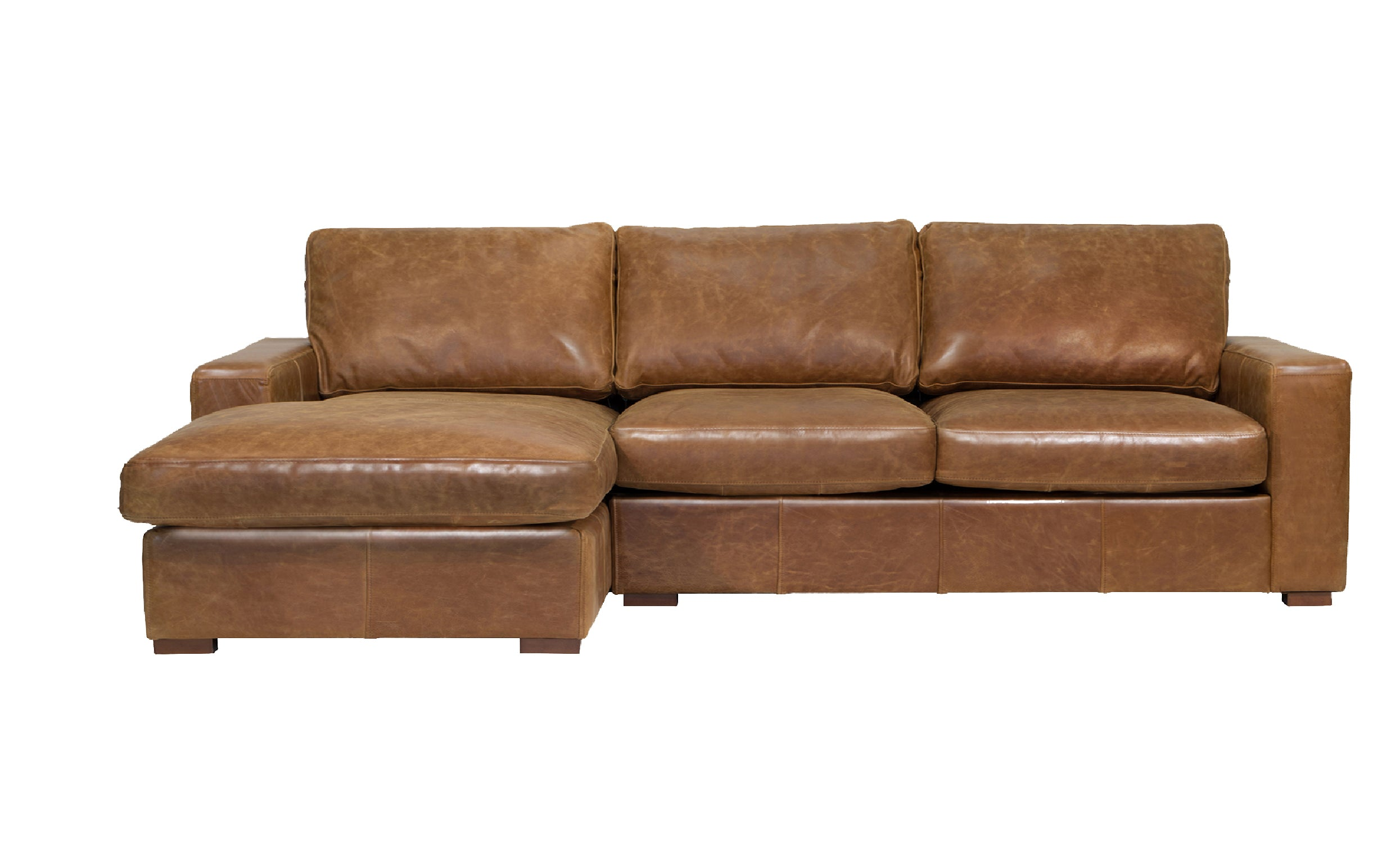 Maximus Full Aniline Chaise and Corner Groups-harris tweed leather sofas-Against The Grain Furniture-3 Seater Left Hand Facing Chaise-Against The Grain Furniture