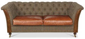 Granby Harris Tweed and Leather Sofas and Chairs.