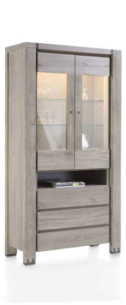 Habufa Avola/Mist Glass Display Cabinet