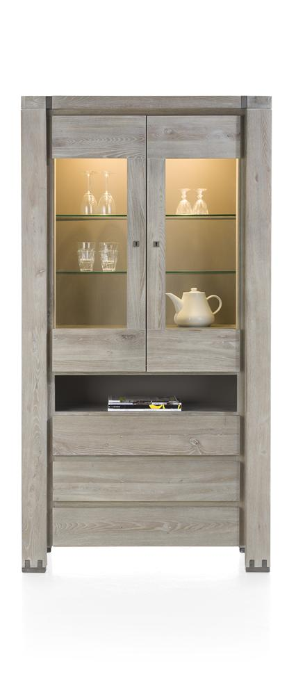 Habufa Avola/Mist Glass Display Cabinet Less 40% at Checkout-display cabinet-Against The Grain Furniture-Against The Grain Furniture