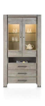 Habufa Avola/Mist Glass Display Cabinet Less 40% at Checkout