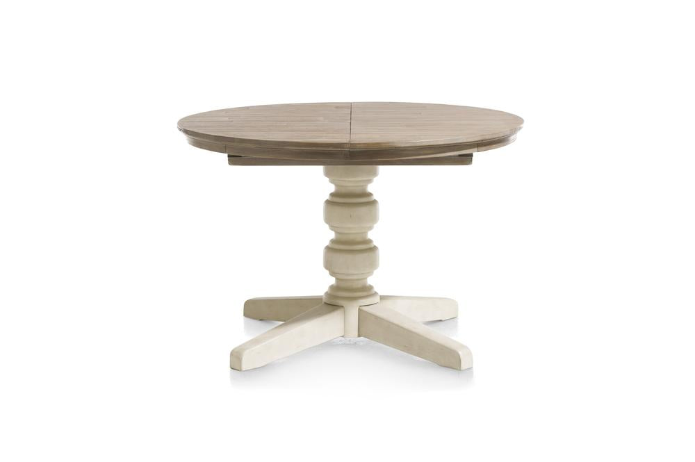 Habufa Le Port Round Extending Tables-round table-Against The Grain Furniture-French White-Against The Grain Furniture