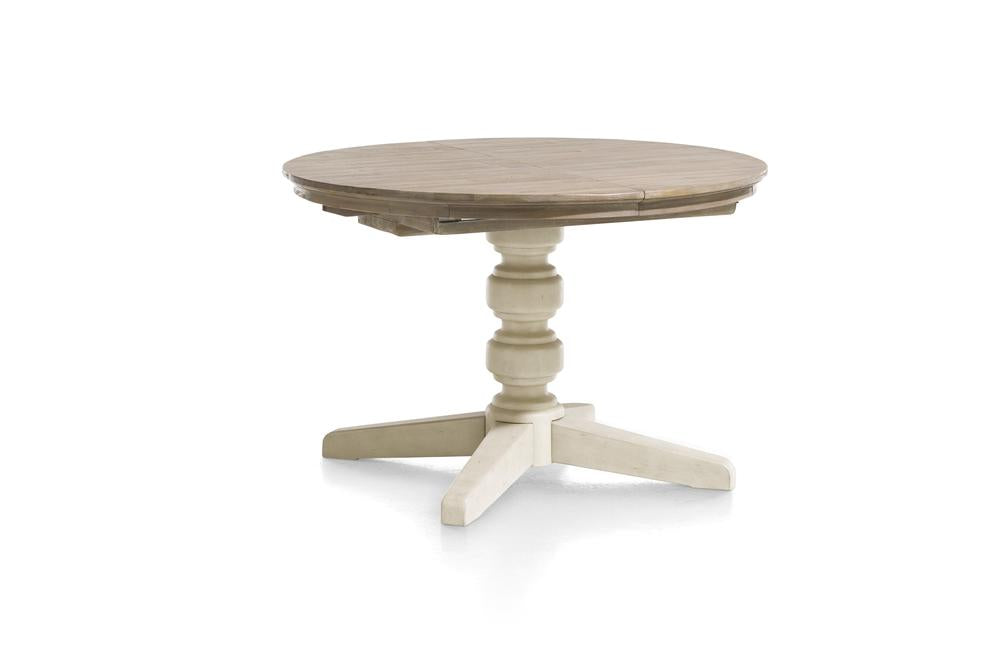 Habufa Le Port Round Extending Tables-round table-Against The Grain Furniture-Pure White-Against The Grain Furniture