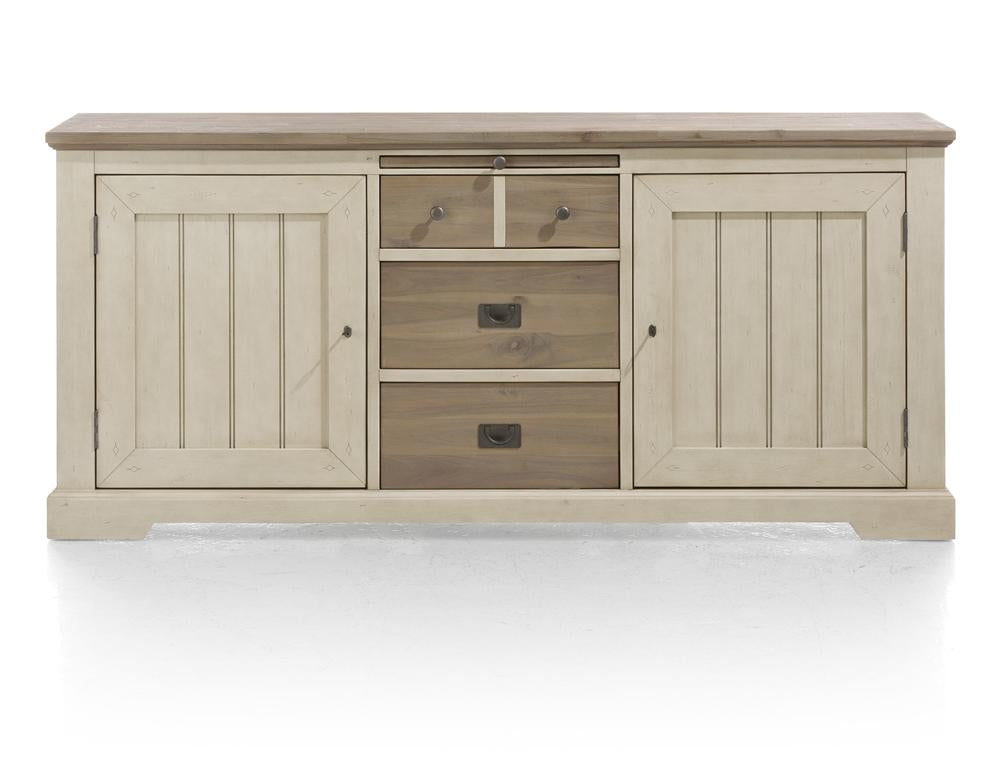 Habufa Le Port Sideboard 1.90-Sideboard-Against The Grain Furniture-French White-Against The Grain Furniture