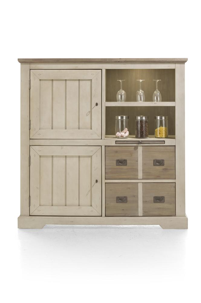 Habufa Le Port Highboard-Highboard-Against The Grain Furniture-French White-Against The Grain Furniture