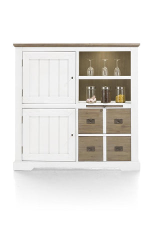 Habufa Le Port Highboard-Highboard-Against The Grain Furniture-Pure White-Against The Grain Furniture