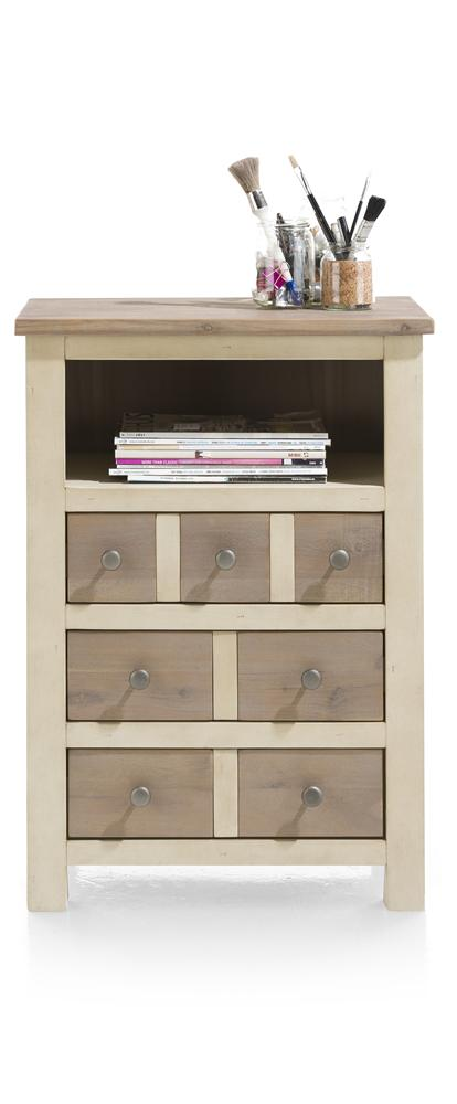 Habufa Le Port Three Drawer Cabinet-Chest of drawers-Against The Grain Furniture-French White-Against The Grain Furniture