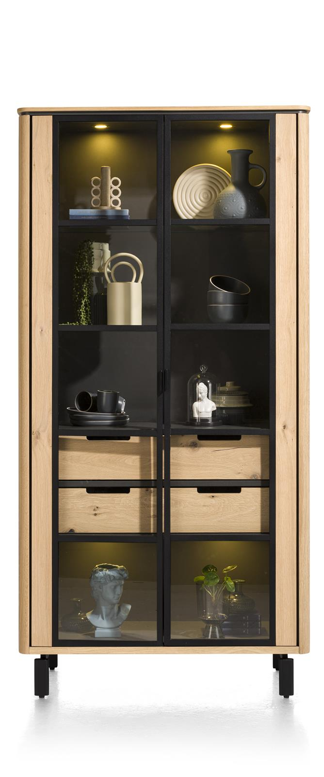 Livada Moreni Bespoke Tall Display Cabinet in Four Colours