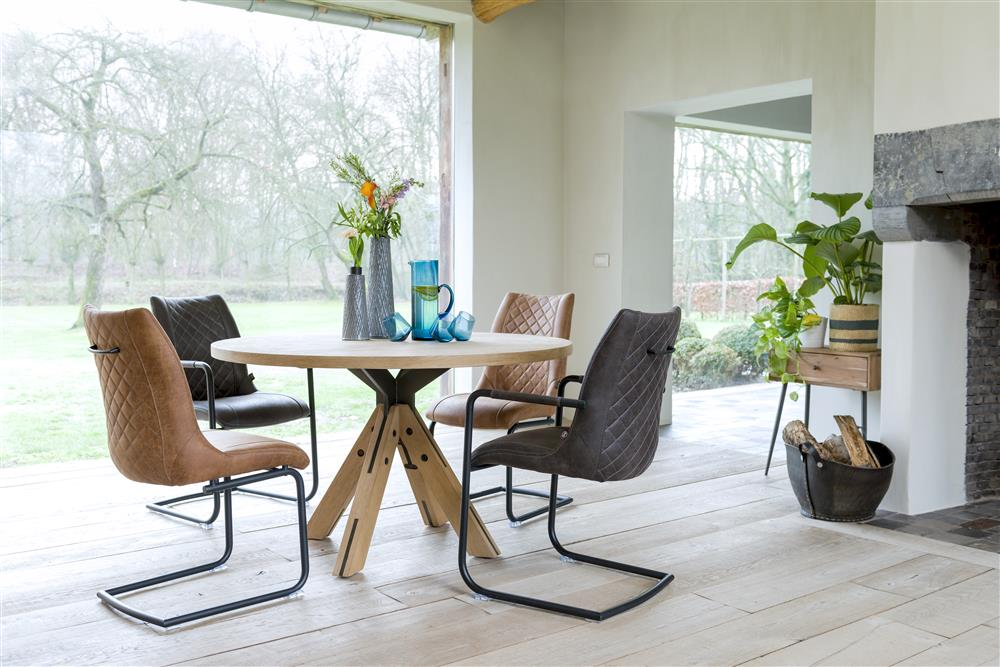 Habufa Jardin Starburst Oak Dining Table-Dining Tables-Against the Grain Furniture-Against The Grain Furniture