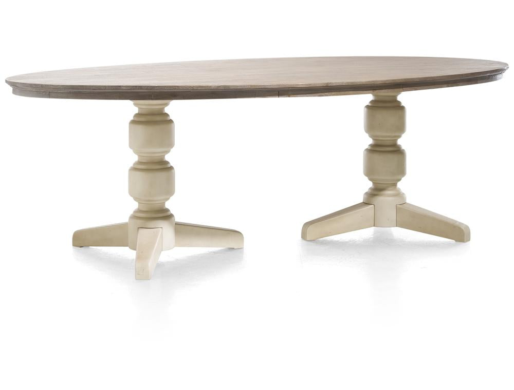 Habufa Le Port Oval Table in Two Sizes-oval table-Against The Grain Furniture-190cm-French White-Against The Grain Furniture