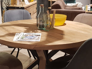 Habufa Brooklyn Starburst Round Dining Table-Dining Table-Detroit-Against The Grain Furniture