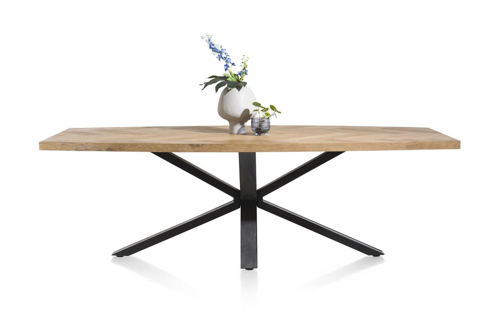 Habufa Metalox Starburst Fishbone Rectangular Dining Tables