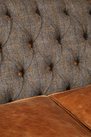 Hornby Harris Tweed and Leather Sofas and Chairs.