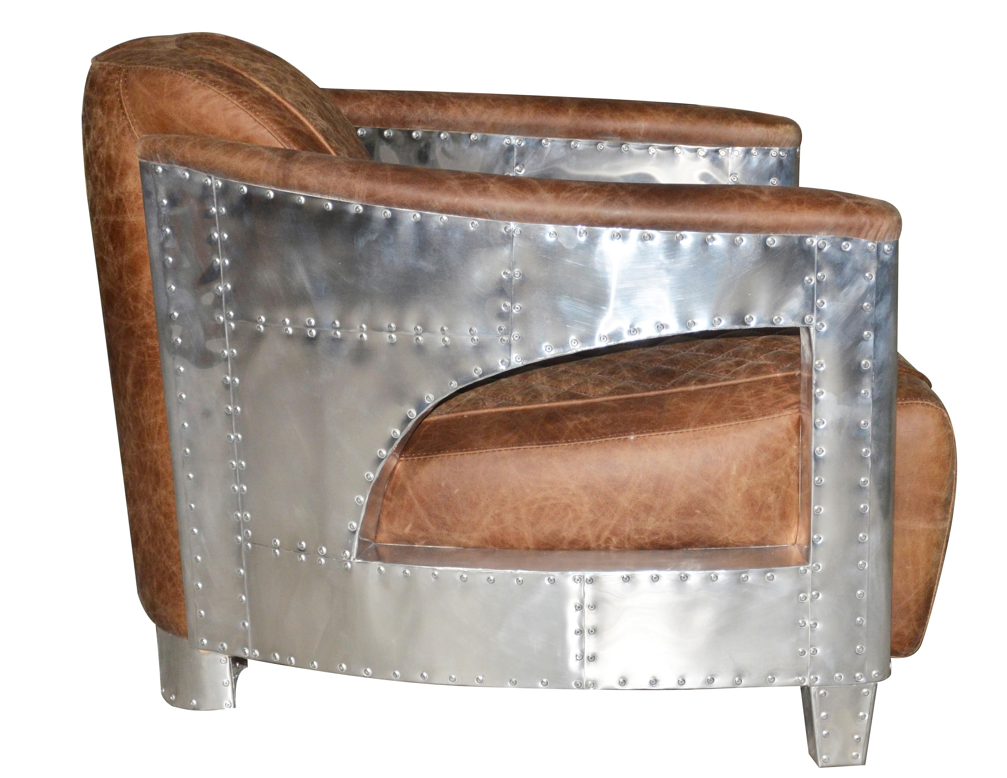 Diner Retro Leather Chair