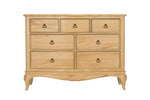 Limousin Chests of Drawers-Chests of drawers-Baker Limoges-7 Drawer wide chest-Against The Grain Furniture