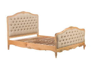 Limousin Bed Frames With Upholstered Head and Foot Boards-Bed frames-Baker Limoges-1.50 King-Against The Grain Furniture