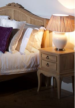 Limousin Bed Frames With Hand Woven Rattan-Bed frames-Baker Limoges-Against The Grain Furniture
