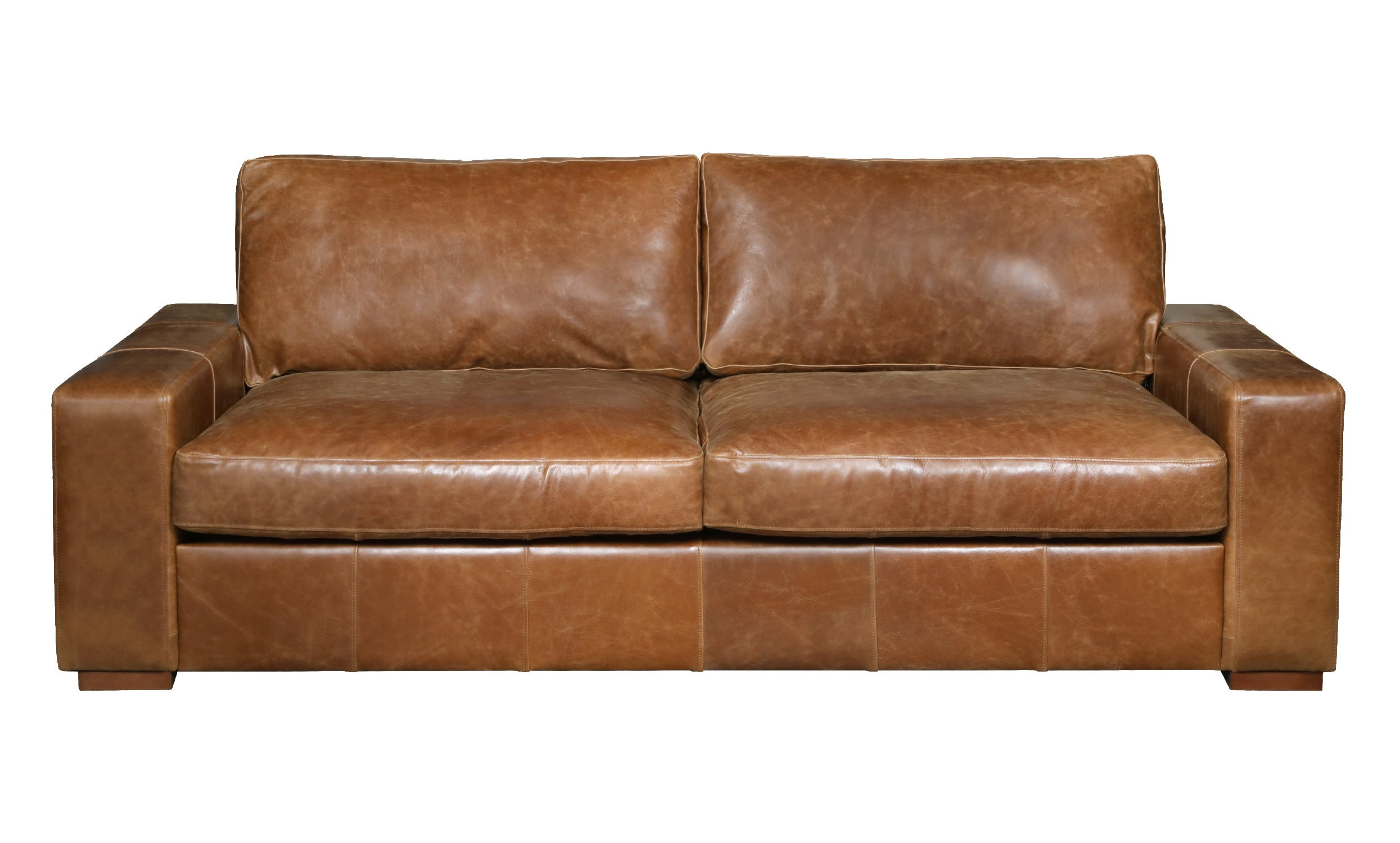 Maximus Full Aniline Leather Sofas-harris tweed leather sofas-Against The Grain Furniture-3 seater-Against The Grain Furniture