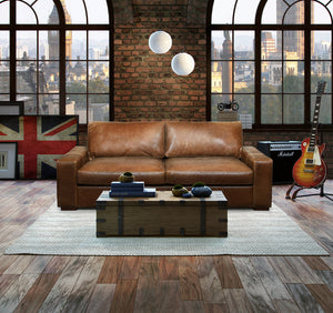 Maximus Full Aniline Leather Sofas-harris tweed leather sofas-Against The Grain Furniture-Chair-Against The Grain Furniture