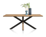 Moreni Fixed Top Rectangular Tables With Starburst Legs in Four Colours