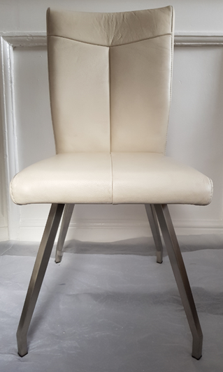 Habufa Aline Off-White 4 Square legs chair