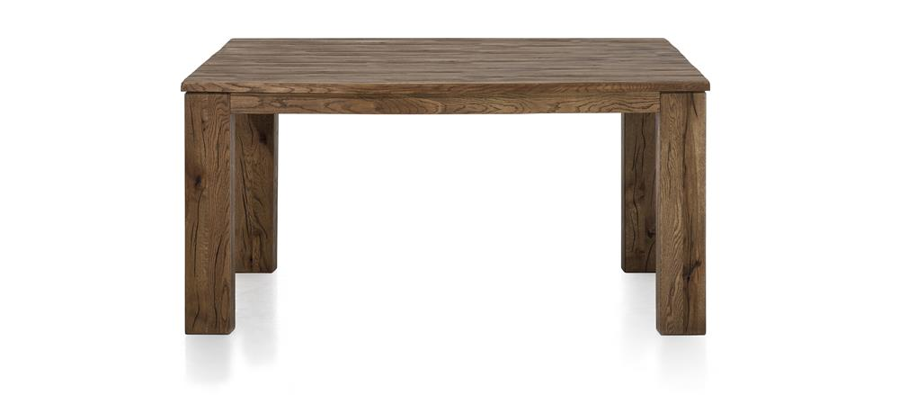 Masters Bespoke Large Fixed Top Tables in Solid Oak-fixed top table-Against The Grain Furniture-140 x 160 Square-Vintage White-12 x 12 Wood-Against The Grain Furniture