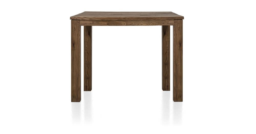 Masters Bespoke Small Fixed Top Bar Tables in Solid Oak-fixed top table-Against The Grain Furniture-90 x 120cm-Vintage Summer Grey-9 x 9 Wood-Against The Grain Furniture