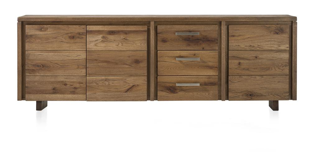 Masters Bespoke Sideboards in Solid Oak-sideboards-Against The Grain Furniture-240-Vintage White-Wooden Legs-Against The Grain Furniture