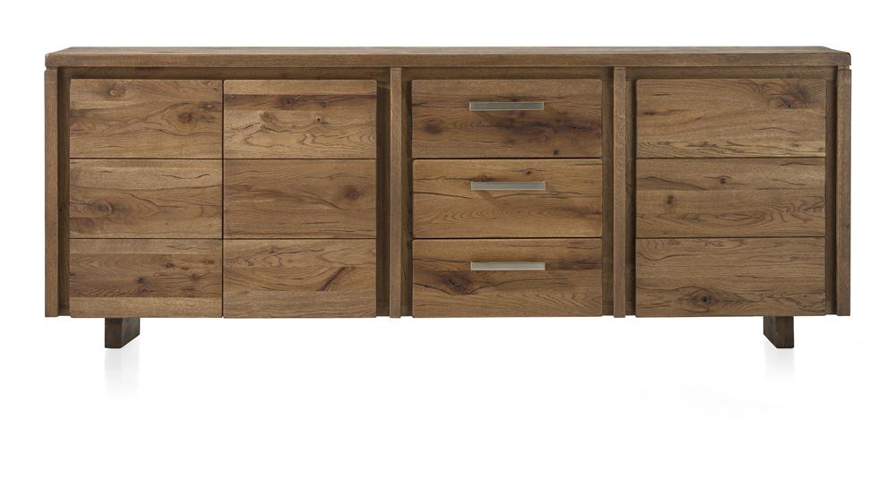 Masters Bespoke Sideboards in Solid Oak-sideboards-Against The Grain Furniture-220-Vintage White-Wooden Legs-Against The Grain Furniture