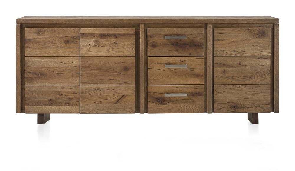 Masters Bespoke Sideboards in Solid Oak-sideboards-Against The Grain Furniture-200-Vintage White-Wooden Legs-Against The Grain Furniture