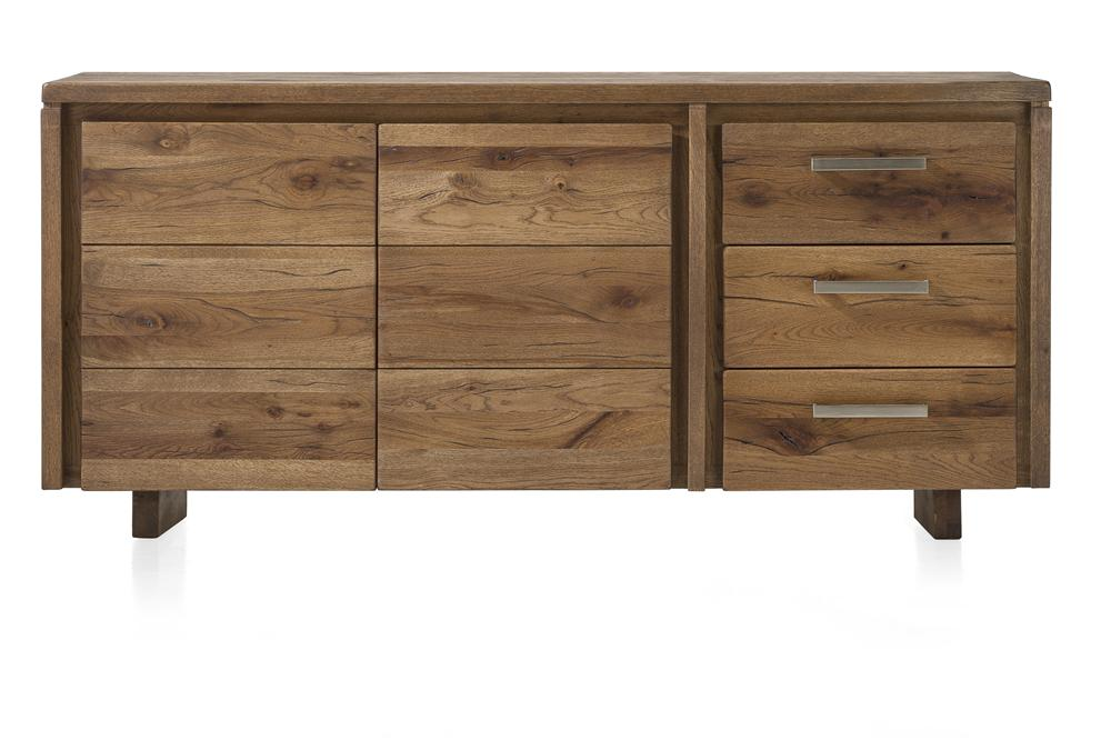 Masters Bespoke Sideboards in Solid Oak-sideboards-Against The Grain Furniture-180-Vintage White-Wooden Legs-Against The Grain Furniture