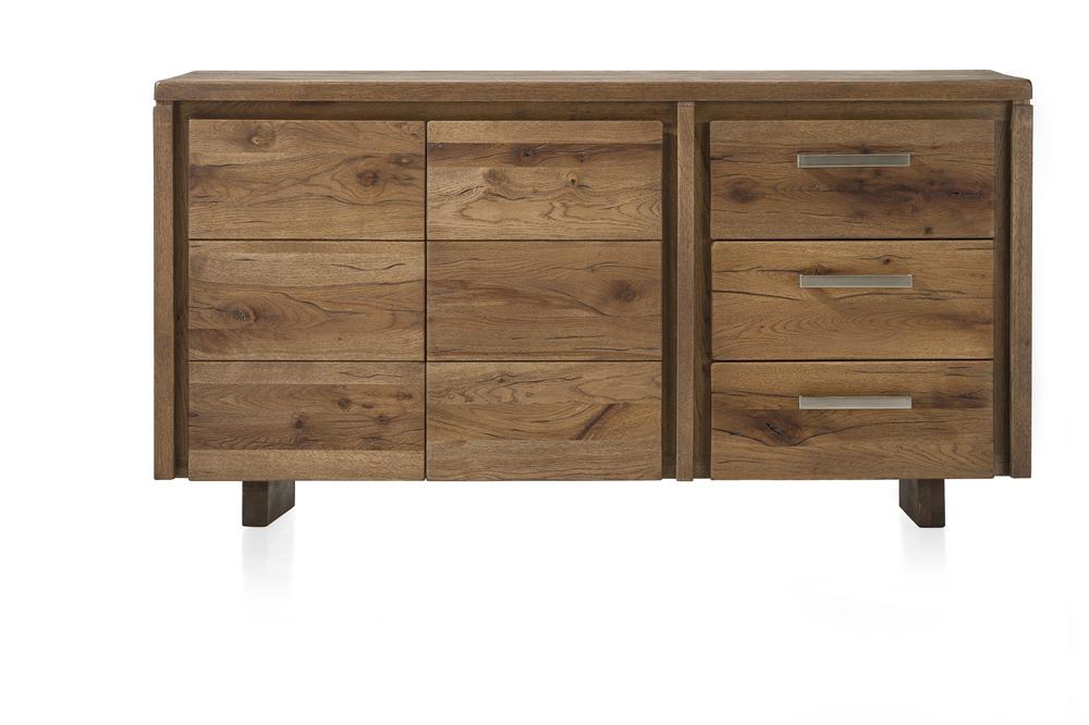 Masters Bespoke Sideboards in Solid Oak-sideboards-Against The Grain Furniture-160-Vintage White-Wooden Legs-Against The Grain Furniture