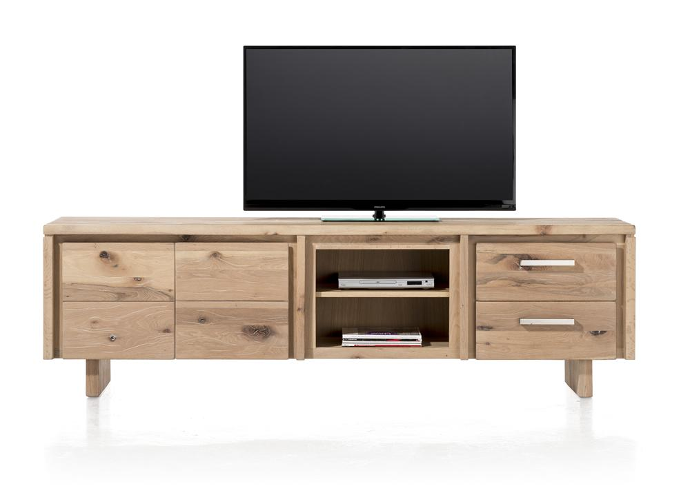 Masters Bespoke Lowboards in Solid Oak-TV lowboards-Against The Grain Furniture-220-Vintage White-Wooden Legs-Against The Grain Furniture