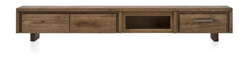 Masters Bespoke TV Media Stands in Solid Oak-Tv media stands-Against The Grain Furniture-240-Vintage White-Wooden Legs-Against The Grain Furniture