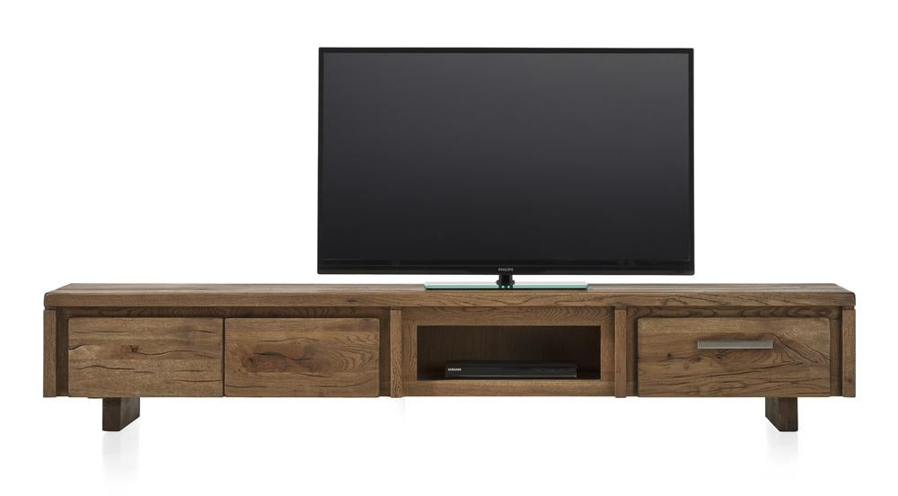 Masters Bespoke TV Media Stands in Solid Oak-Tv media stands-Against The Grain Furniture-220-Vintage White-Wooden Legs-Against The Grain Furniture