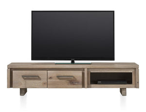 Masters Bespoke TV Media Stands in Solid Oak-Tv media stands-Against The Grain Furniture-160-Vintage White-Wooden Legs-Against The Grain Furniture