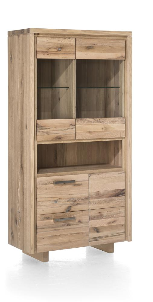 Masters Bespoke Glass Display Cabinet in Solid Oak