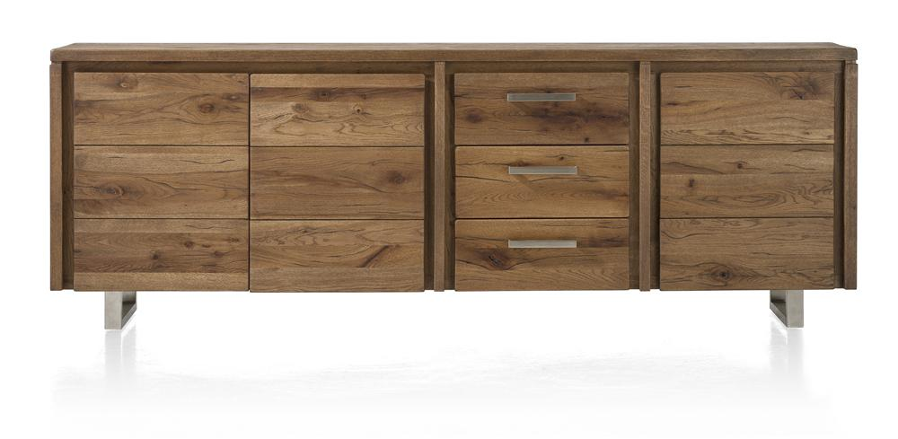 Masters Bespoke Sideboards in Solid Oak-sideboards-Against The Grain Furniture-240-Vintage White-Stainless Steel Legs-Against The Grain Furniture
