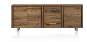 Masters Bespoke Sideboards in Solid Oak-sideboards-Against The Grain Furniture-220-Vintage White-Stainless Steel Legs-Against The Grain Furniture