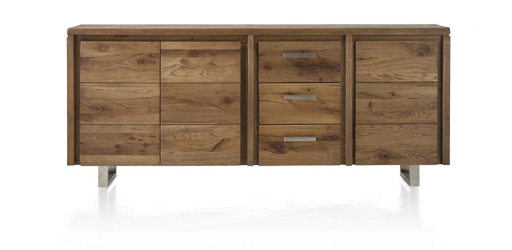 Masters Bespoke Sideboards in Solid Oak-sideboards-Against The Grain Furniture-200-Vintage White-Stainless Steel Legs-Against The Grain Furniture