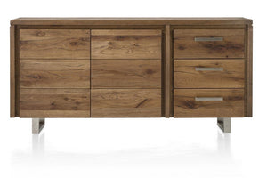 Masters Bespoke Sideboards in Solid Oak-sideboards-Against The Grain Furniture-180-Vintage White-Stainless Steel Legs-Against The Grain Furniture